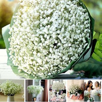 Fashion Gifts Artificial Gypsophila Flower Fake Silk Wedding Party Bouquet Home Decor