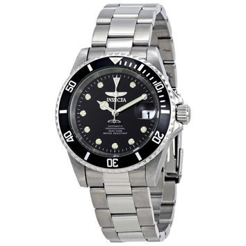 Invicta Pro Diver Automatic Black Dial Stainless Steel Mens Watch 17044