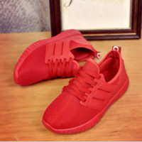 Red Womens Sports Shoes Running Sneakers