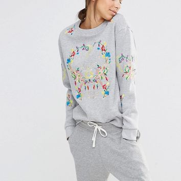 Missguided Embroidered Sweater at asos.com