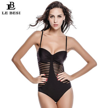 2017 New Bodysuit Sexy 1 One Piece Swimsuit Backless Swimwear Women Bathing Suit Brazilian Plus Size Beachwear Bandage Monokini