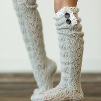 Lace Boot Socks, Children's, Girls, Tall Socks with Lace, Girl's Socks, Fashion Socks for Kid's (FW41)