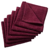 "Design Imports Solid Windowpane Terry Dishcloth Set, Set of 6, 12""x12"", 100% Cotton, Multiple Colors - Walmart.com"