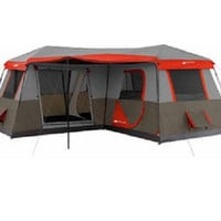 12-Person 3 Room Instant Cabin Tent Ozark Trail 16x16-Feet with Pre-Attached Poles