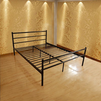 Full-size Platform Bed Frame, Metal Mattress Foundation with Stable Headboard and 10 Leg | Overstock.com Shopping - The Best Deals on Beds