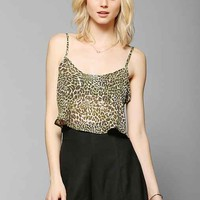 Urban Renewal Flowy Cropped Cami- Brown M