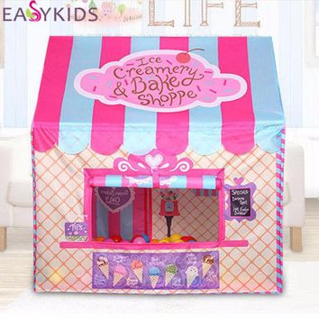 VONEGQ Kids Play Tent Foldable Portable Girl Princess Castle Indoor Outdoor Play Tents Playhouse For Children Best Gifts