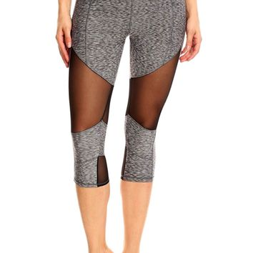 Time To Sweat Mesh Cropped Capri