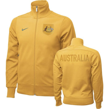 Nike Australia Soccer Gray Authentic N98 Full-Zip Jacket
