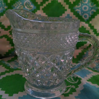 Vintage Anchor Hocking Wexford Creamer clear glass
