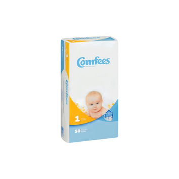 Comfees Size 1 Baby Diaper Tab Closure, Disposable | Comfees #CMF-1