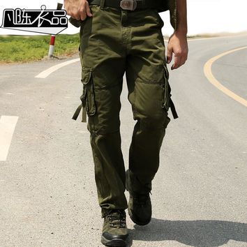 Overalls male trousers military multi pocket pants Combat pants plus size casual loose cargo pants spring and summer