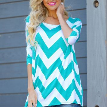 Blue Wave Print Sleeve Shirt