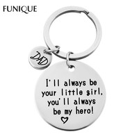 FUNIQUE Handmade Silver Color Letters Carved Charms Keychain Clasps Her Beast His Beauty Lover Dad Letters Customized Key Chains