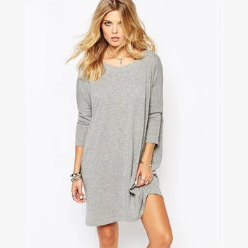 Winter Sexy Backless Hoodies One Piece Dress [6338931585]