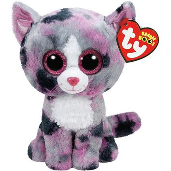 """Pyoopeo Ty Beanie Boos 6"""" Regular Pink Lindi Cat Beanie Baby Plush Stuffed Doll Toy Collectible Soft Toys Big Eyes Plush Toys"""