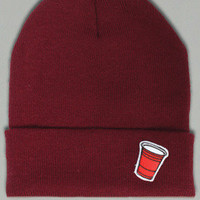 Booger Kids — Party Cup Beanie - Cardinal
