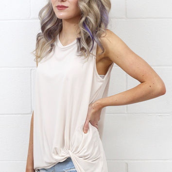 Get Twisted Comfy Tank Basic {Ivory}