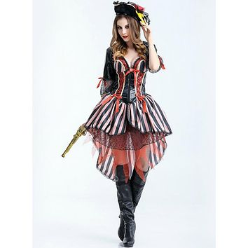 Halloween Pirate Costume Female Cosplay Game Role