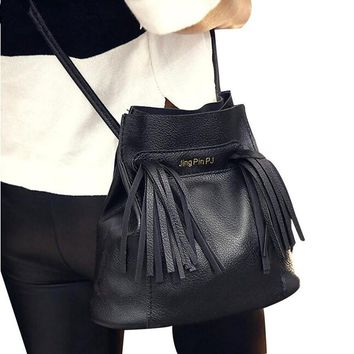 Naivety New Handbag Women Crossbody Shoulder Bag Lady Faux Leather Tassel Tote Purse Satchel S61222 drop shipping