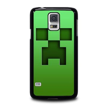 creeper minecraft samsung galaxy s5 case cover  number 1