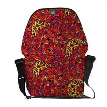 Colorful Organic Pattern Courier Bag