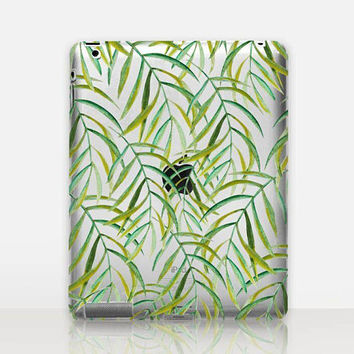 Leaves Transparent iPad Case For - iPad 2, iPad 3, iPad 4 - iPad Mini - iPad Air - iPad Mini 4 - iPad Pro