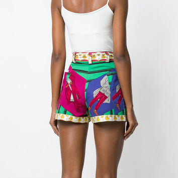 Versace Vintage Printed high-waisted Shorts - Farfetch