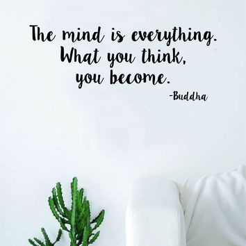 The Mind Is Everything Wall Decal Sticker Room Art Vinyl Beautiful Yoga Hamsa Namaste Lotus Meditate Buddha Peaceful Love Inspirational