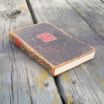 Vintage Book Essays and Ancient Fables of Francis Bacon 1932 Leather Bound