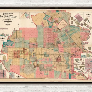 Old Map of San Fernando Valley 1921 The Valley