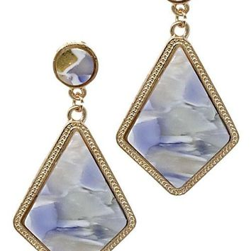 Diamond Shape Fashion Drop Post Earrings