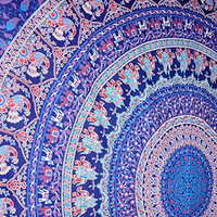 Dancing Peacock & Elephant Mandala Tapestries , Hippie Tapestries , Bohemian Boho Tapestry , Dorm Tapestry ,Wall Tapestries, Tapestry Wall Hanging- AndExports