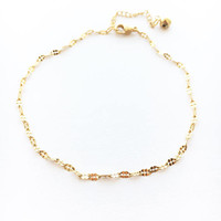 Gold Anklet • Dainty Gold Anklet • Chain Ankle Bracelet • Bridesmaid Anklet • Beach Jewelry • Steel Anklet • Bell Anklet | 0078AM