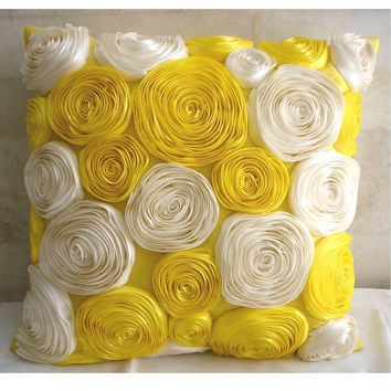 Sunny Yellow Blooms  Throw Pillow Covers