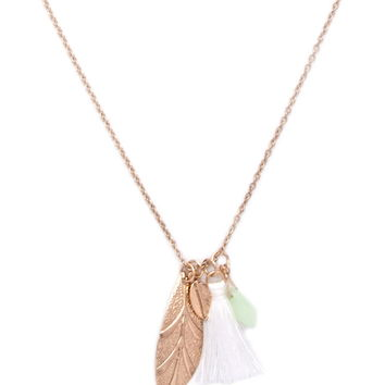 Mixed Charm Necklace | Forever 21 - 1000170654