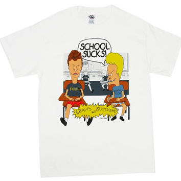 School Sucks! - Beavis And Butthead T-shirt - MyTeeSpot - Your T-shirt Store