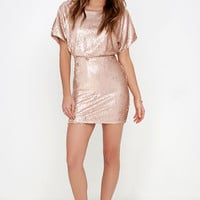 Glory Never Fades Rose Gold Sequin Dress