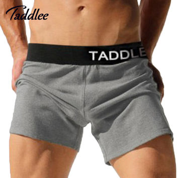 Taddlee Brand Sexy Mens Underwear Boxers Cotton Trunks Running Sport Shorts Men Sweatpants Jogger Boxer Gay Casual Active Shorts
