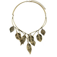Leaf Trellis Collar Necklace