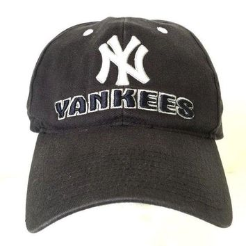 DCCK7BE Vintage New York Yankees Hat Baseball Cap NY Black Cotton One Size