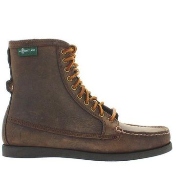CREYONIG Eastland Up Country 1955 - Tan Leather Rawhide Lace-Up Moc Boot