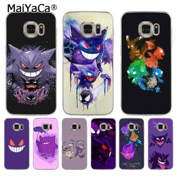 MaiYaCa Pokemons Go Gengar Sinister Nebula Colorful Printing phone case for samsung galaxy s7 s6 edge plus s5 s9 s8 plus case