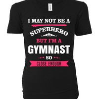 Funny Gift For A Superhero Gymnast - Ladies T-shirt
