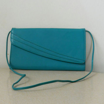 80s Teal Purse Asymmetrical