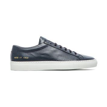Common Projects Original Achilles w/ White Sole in Navy