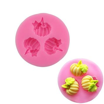 1Pcs Leaf 3D Silicone Cake Mold Pan Round Pumpkin Shape Baking Tools For Bakeware DIY Cake Tools