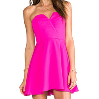 Naven Bombshell Circle Dress in Fuchsia