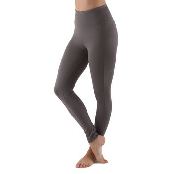 Women's High Waist Active Long Yoga Compression Leggings - Dark Gray