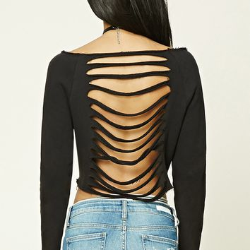Ladder-Cutout Back Top